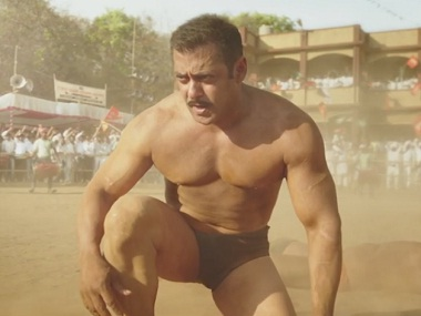 Salman in a still from the upcoming film 'Sultan'. Screengrab from YouTube