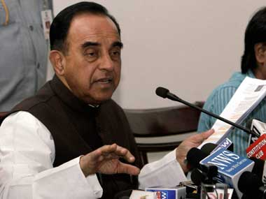 A file photo of Subramanian Swamy. PTI