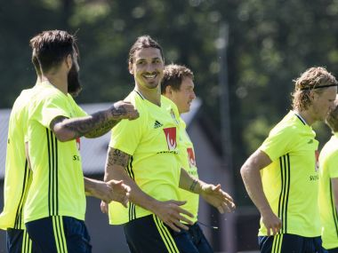 Zlatam Ibrahimovic will once again hold the key for Sweden at the European Championship. AFP