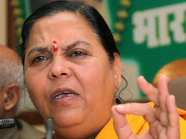 File photo of Uma Bharti. PTI