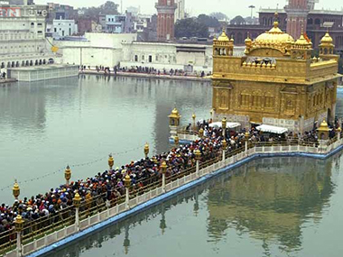 File image of the Golden Temple. Ibnlive