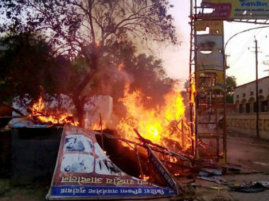 Aftermath of Mathura violence. Twitter CNNNews18