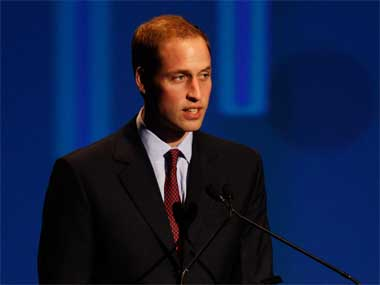 File image of Prince William. Getty images.