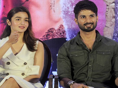 Alia Bhatt and Shahid Kapoor at a press conference for 'Udta Punjab' after a Bombay HC verdict cleared the film for release with just one cut. Image by Sachin Gokhale/Firstpost