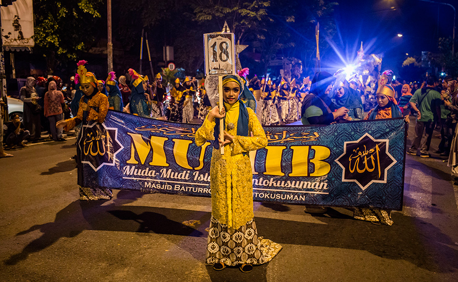 Yogyakarta, Indonesia: Children parade on the streets as Muslims celebrate Eid, marking the end of Ramadan. Getty images