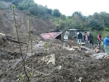 Landslide in Arunachal Pradesh following heavy rainfall. CNN-News18