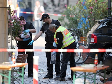 A failed asylum-seeker from Syria blew himself up and wounded 15 people in southern Germany. AP