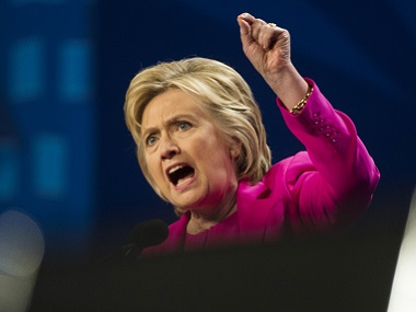Presumptive Democratic presidential candidate Hillary Clinton. AP
