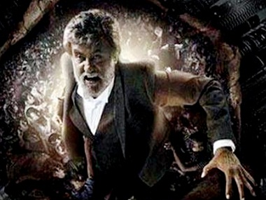 A poster for Rajinikanth's 'Kabali'
