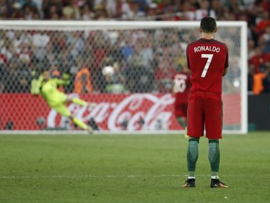 Cristiano Ronaldo during match against Poland. Reuters