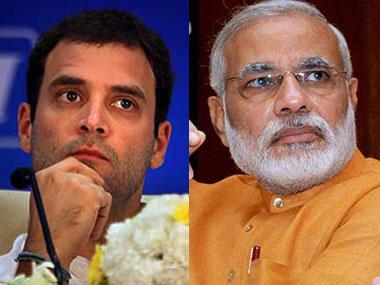 Congress vice-president Rahul Gandhi and Prime Minister Narendra Modi. PTI