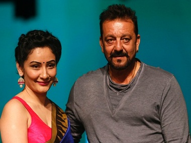 Sanjay and Manyata Dutt. Image from IBNlive