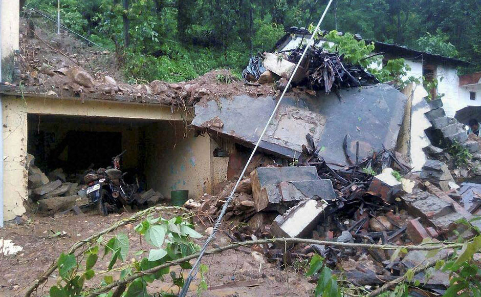 Cloudbursts and landslides following heavy rains in Pithoragarh and Chamoli districts of Uttarakhand killed atleast 22 people. PTI