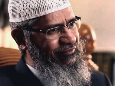 File image of Zakir Naik. Screen grab from YouTube