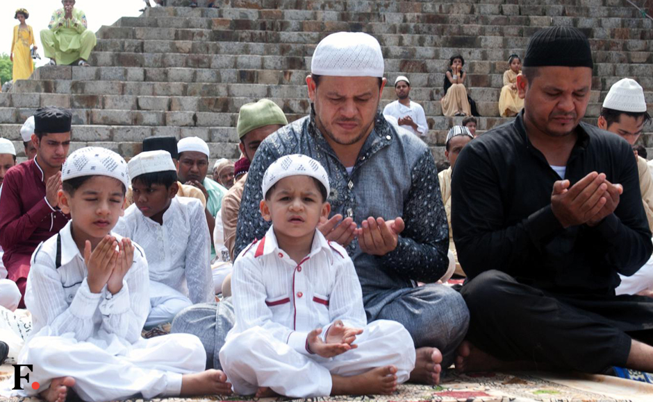 The Eid-ul-Fitr is being celebrated across Delhi with traditional fervour. Thousands of Muslims prayed for peace and harmony in the country. Naresh Sharma/Firstpost