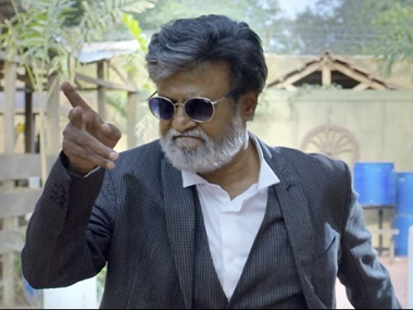 Rajinikanth in the song 'Neruppu Da' in 'Kabali'