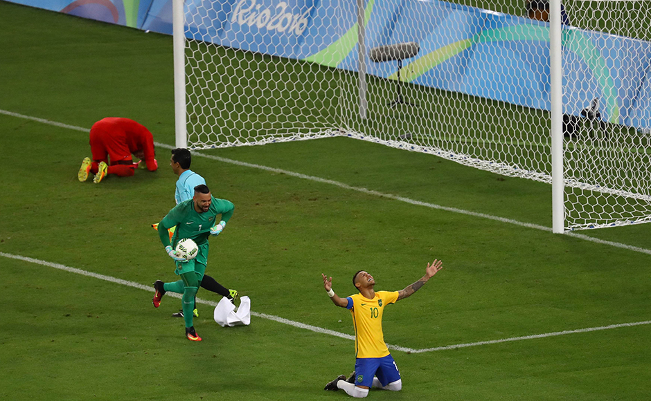 Neymar scored the winning penalty for Brazil that gave the hosts their first ever Olympic football gold medal. Reuters