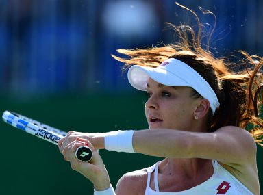 Agnieszka Radwanska during their women's first round in Rio. AFP