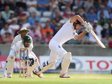 Alastair Cook in action against Pakistan on day three of the third Test. Getty
