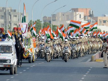 Independence Day celebration at Red Fort on Monday. PTI