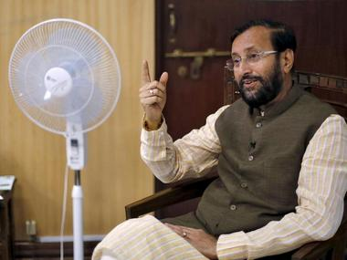 File photo of HRD Minisetr Prakash Javadekar. Reuters