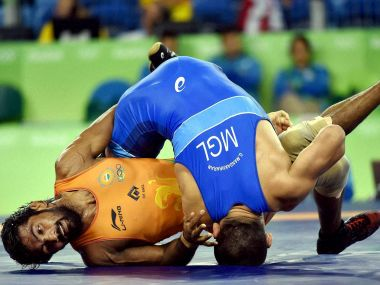Yogeshwar Dutt in action at the Rio 2016 Olympics. PTI
