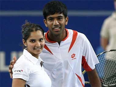 File photo of Sania Mirza and Rohan Bopanna. Getty Images