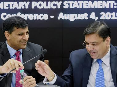Raghuram Rajan and Urjit Patel in a PTI file photo