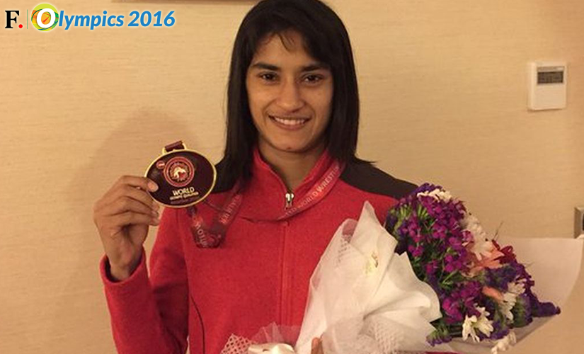File photo of Vinesh Phogat at the Olympics. Image Credit: Twitter @phogat_vinesh