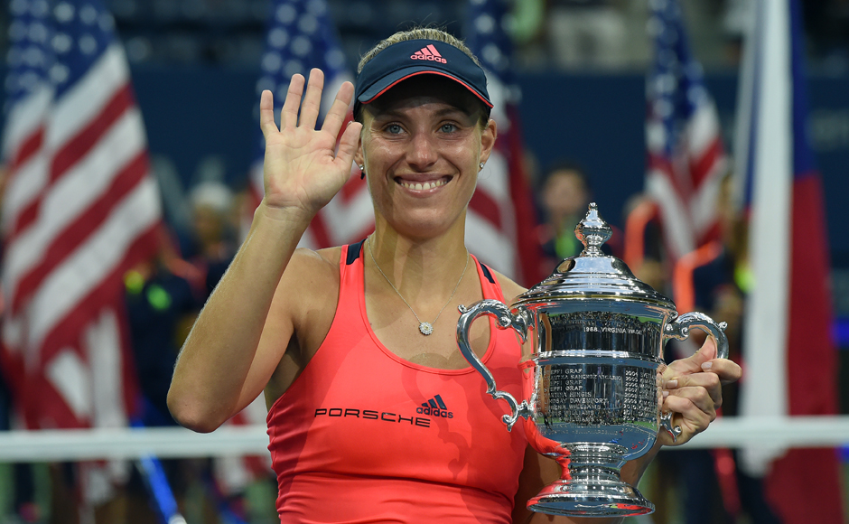 Angelique Kerber won the US Open marking her rise to world number one with a gritty victory over Karolina Pliskova to add a second Grand Slam crown to her magical 2016 season. AFP