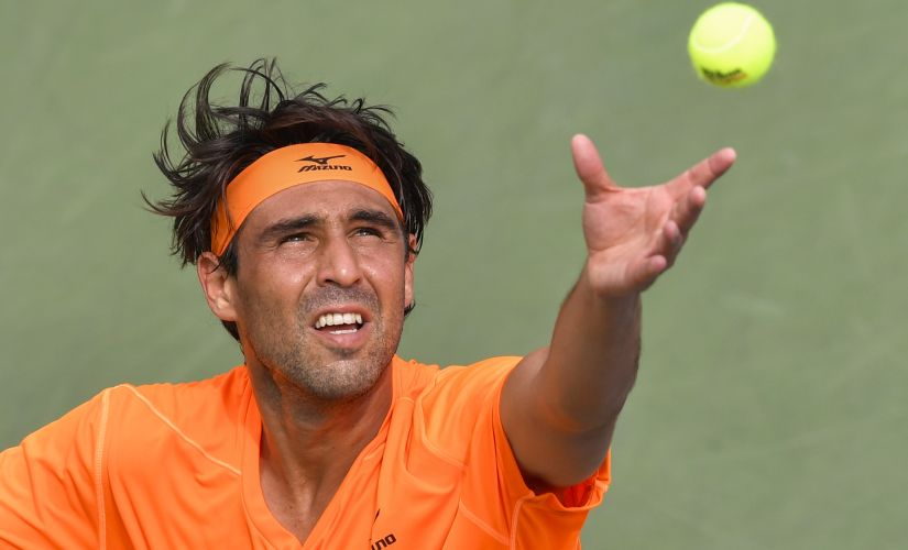 Marcos Baghdatis at the US Open. AFP