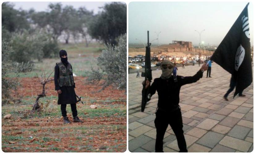(L to R) Al Qaeda and Islamic State fighters. Reuters