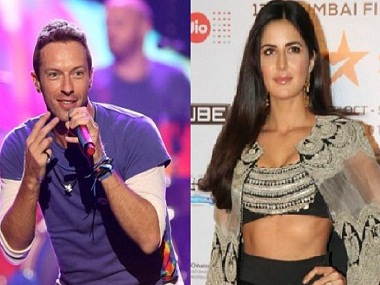 Chris Martin seems not to have got the memo about Katrina Kaif's conscious uncoupling from Ranbir Kapoor. Images from AP, News 18