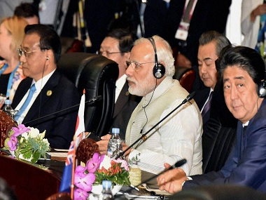 Vientiane: Prime Minister Narendra Modi at the 11th East Asia Summit in Vientiane, Laos on Thursday. PTI Photo / PIB (PTI9_8_2016_000248B) *** Local Caption ***