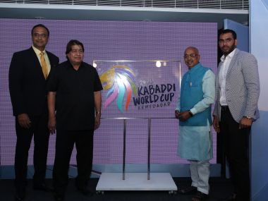 Sports minister Vijay Goel formally unveiled the logo of 2016 Kabaddi World Cup