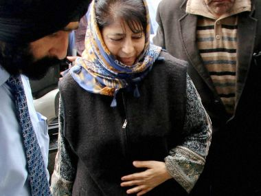 Kashmir unrest: Mehbooba Mufti blames Pakistan, separatist leaders for inciting violence