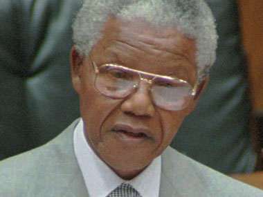 A file photo of Nelson Mandela. AP