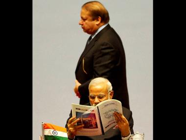 Prime Minister Narendra Modi and his Pakistani counterpart Nawaz Sharif. PTI