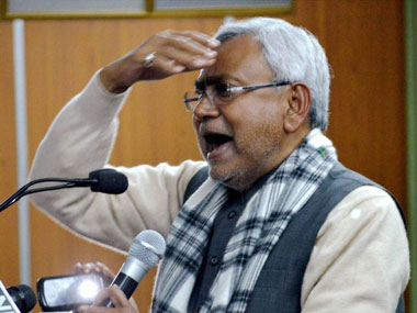 File image of Bihar Chief Minister Nitish Kumar. PTI