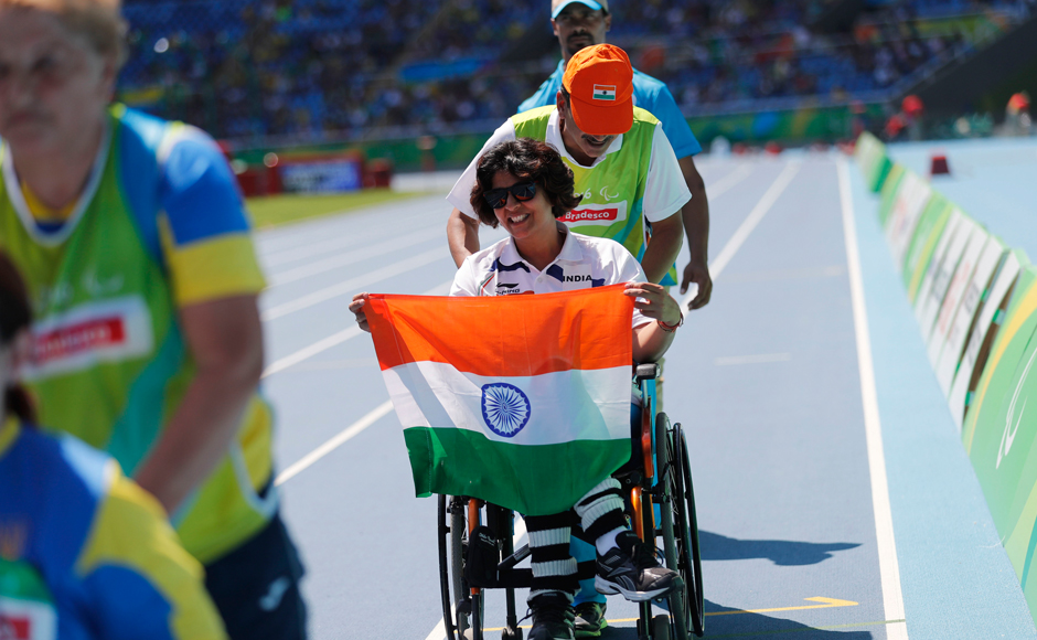 India's Deepa Malik recorded a personal best of of 4.61m, which helped her clinch the silver medal at Rio Paralympics 2016. AP