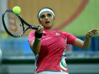 Sania Mirza in action at the Rio Olympics. PTI