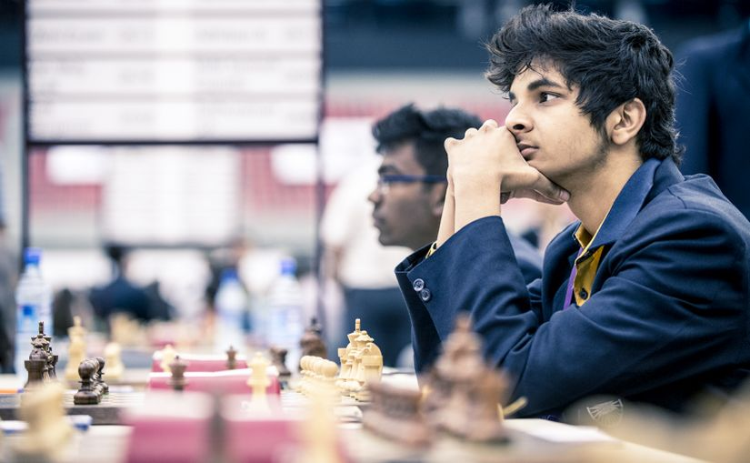 GM Vidit Santhosh Gujrathi, the highest scorer of the Men team at the third board, scoring 8 points from 11 games Image Credit:  David Llada/Firstpost
