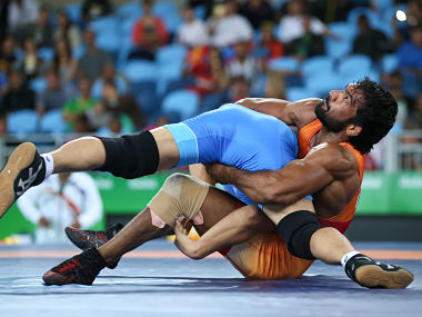 Yogeshwar Dutt performing at the Rio 2016 Olympics. Reuters