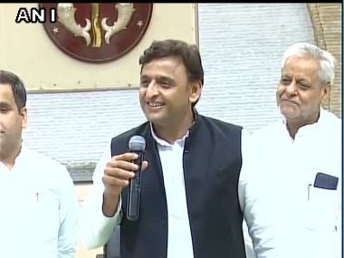 Uttar Pradesh Chief Minister addressing the media on Wednesday on the alleged rift within the party. Image courtesy: @ANI_news