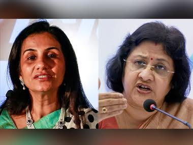 Chanda Kochhar (left) and Arundhati Bhattacharya