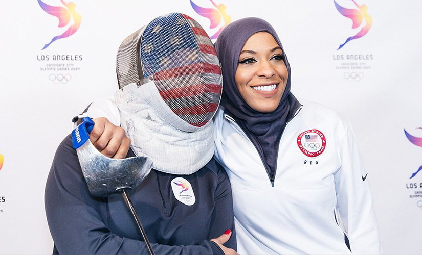 The veil has emerged as liberating attire in those societies where there is no legal ban. In this image, American fencer Ibthihaj Muhammad competed in the Olympics while wearing a hijab. Image courtesy Twitter