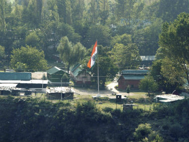 The army camp in Uri where the attack happened. PTI