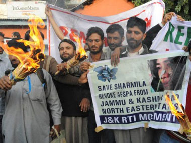 A file image of protest on Afspa. Reuters