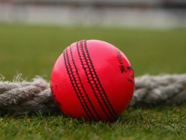 A pink ball used in the day-night Test cricket. Getty