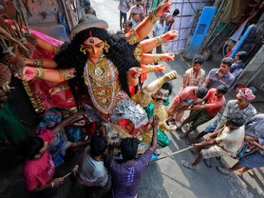The celebration of Durga Puja goes beyond religion in Bengal. Reuters